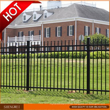 Black Powder Coated Tubular Wrought Iron Fence
